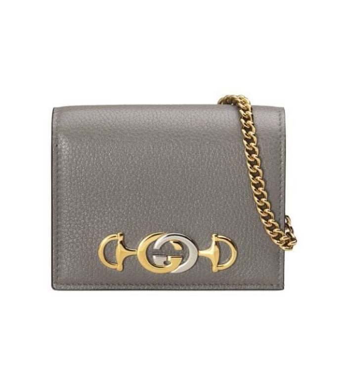 grey zumi card case wallet