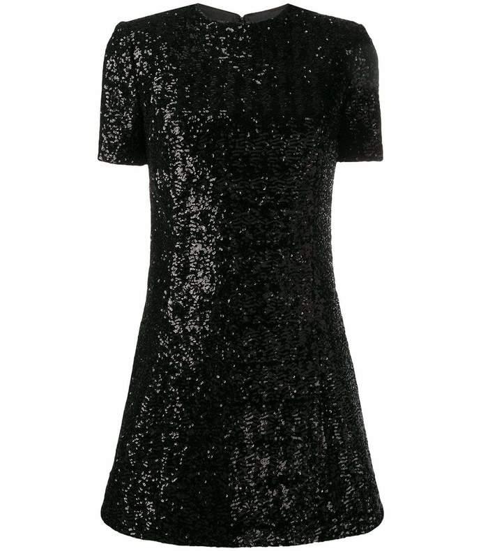 round neck sequin mini dress