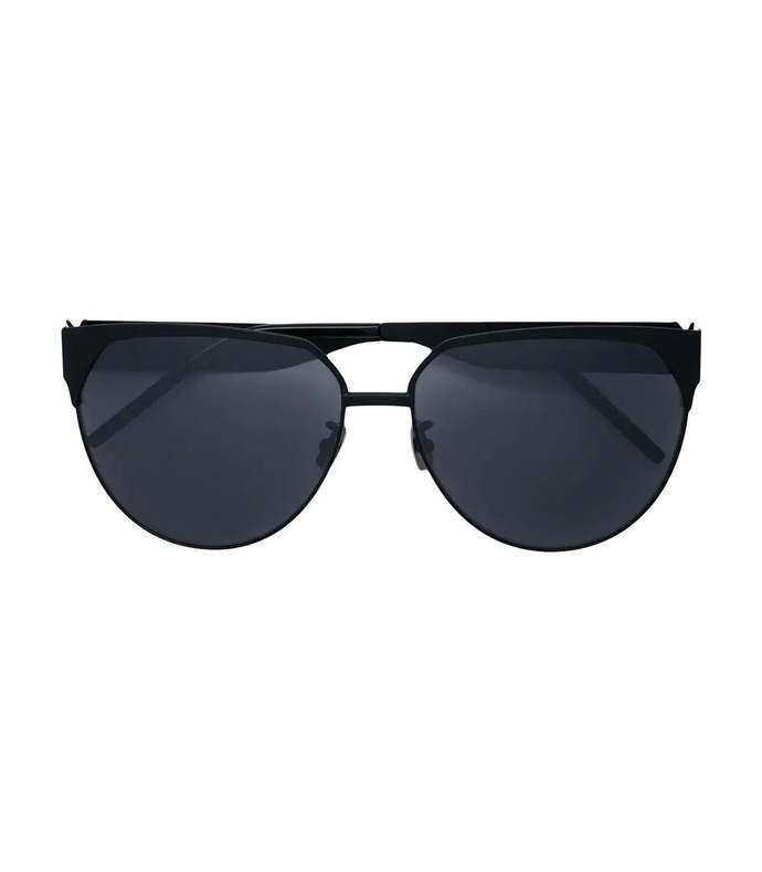 ysl black frame sunglasses