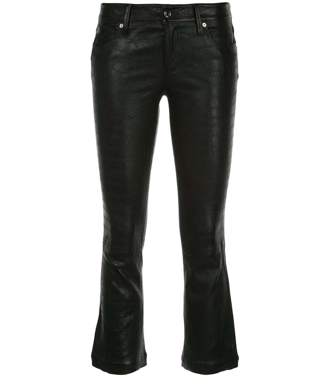 how to find running shoes official price RtA Kiki Crocodile Cropped Leather Pants - ShopBAZAAR