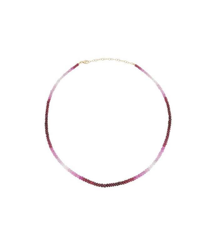 tie dye single ruby necklace