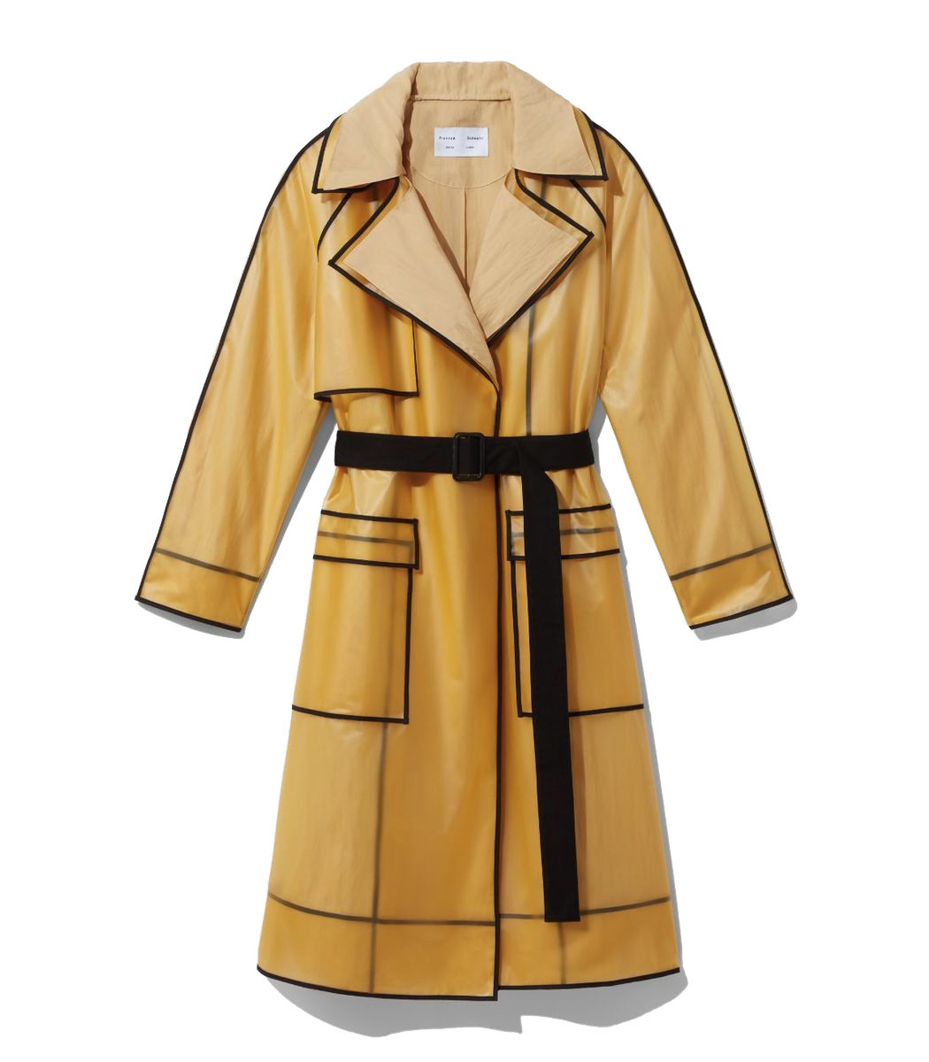 Proenza Schouler White Label Layered Belted Rain Coat