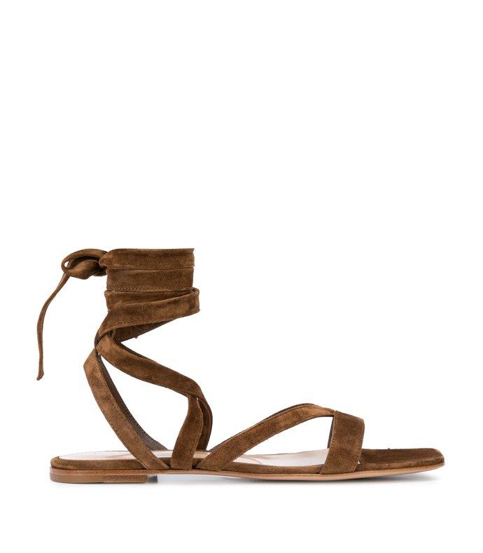suede gladiator tie-up sandal