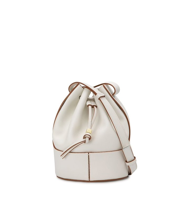 balloon top handle bucket bag