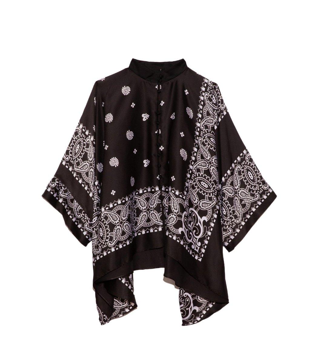 Sacai Archive Print Mix Shirt in Black