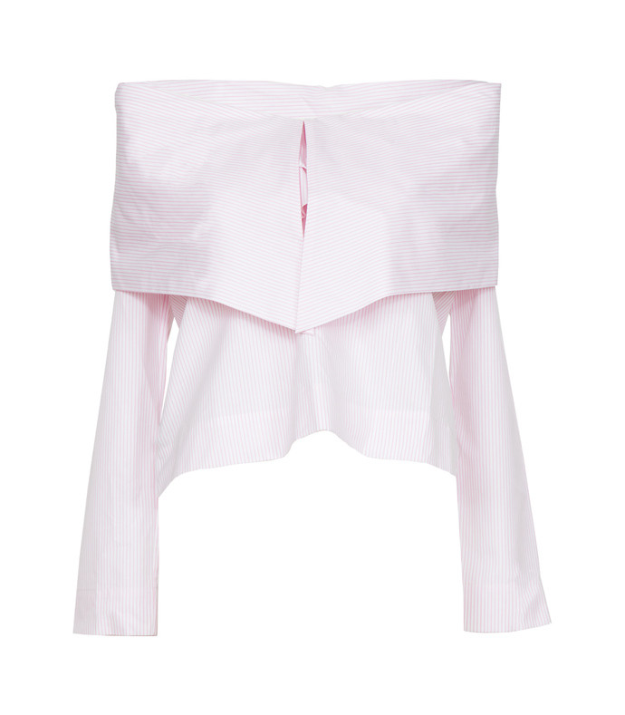 pink ruffle knot top