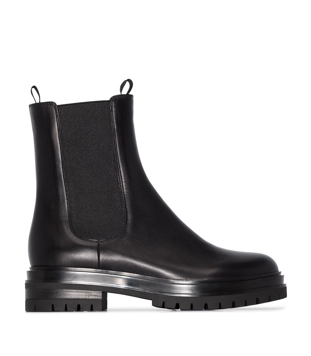 Gianvito Rossi Leathers Pull-On Chelsea Boot in Black