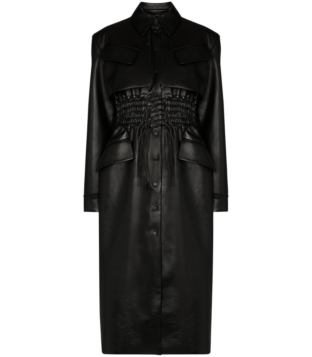 Materiel Faux eather Cargo Trench
