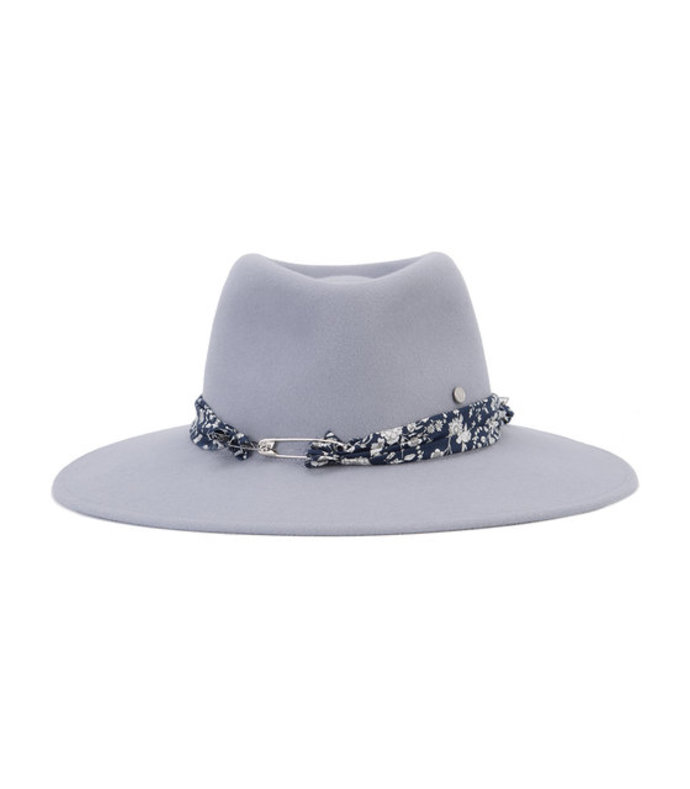 grey 'pierre' floral band hat