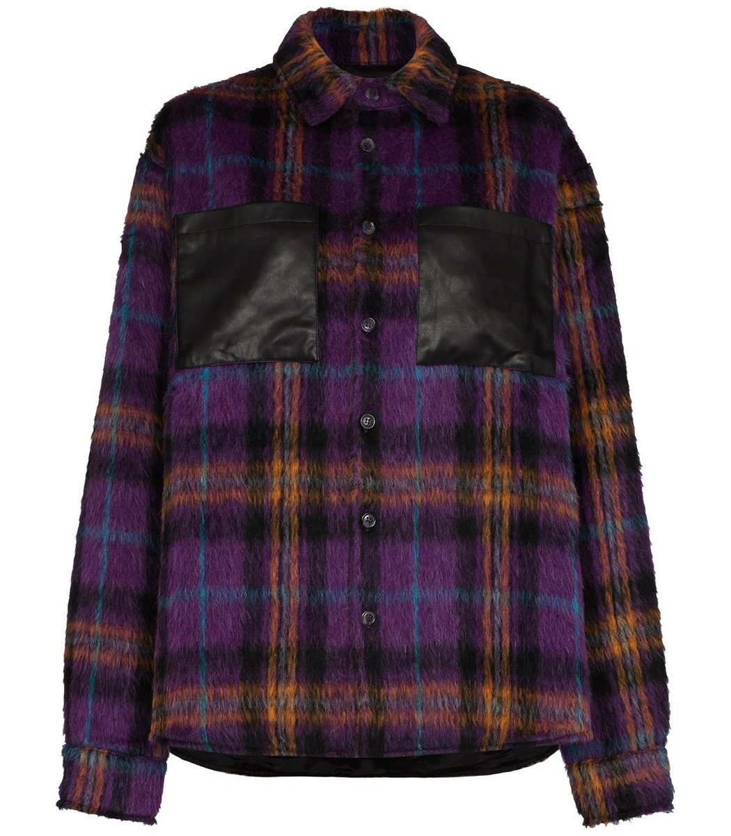 Natasha Zinko Plaid Print Shirt Jacket