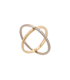 gold elipse ring