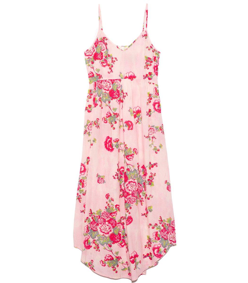Loveshackfancy Faraday Slip Dress in Pink Desert