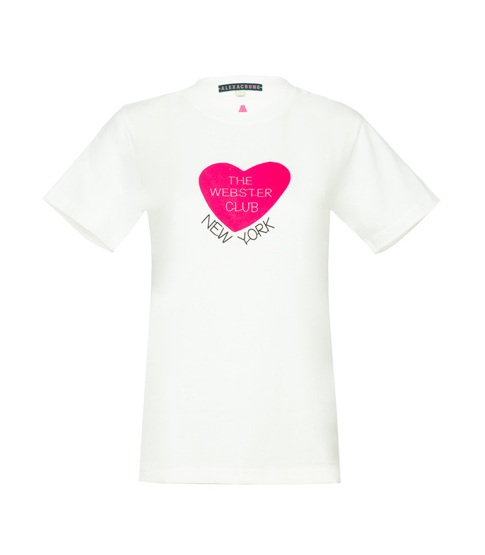 white the webster club' short sleeve t-shirt