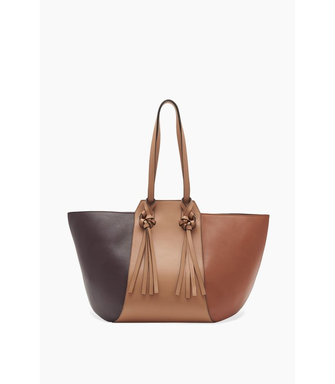 imogen large carryall tote in terracotta patchwork