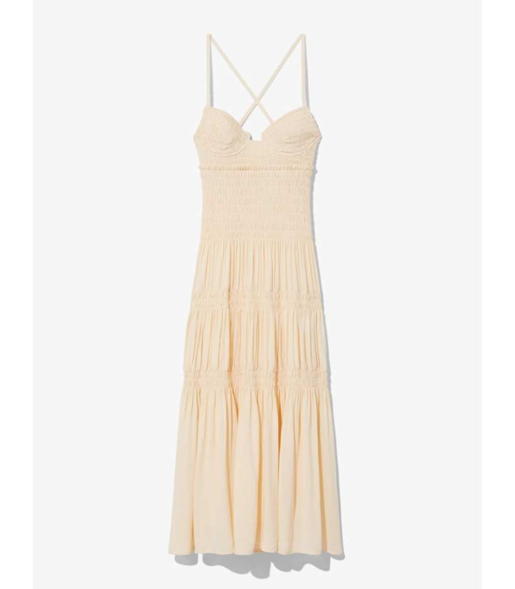 Proenza Schouler Smocked Bustier Dress