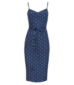 blue liliy slip dress