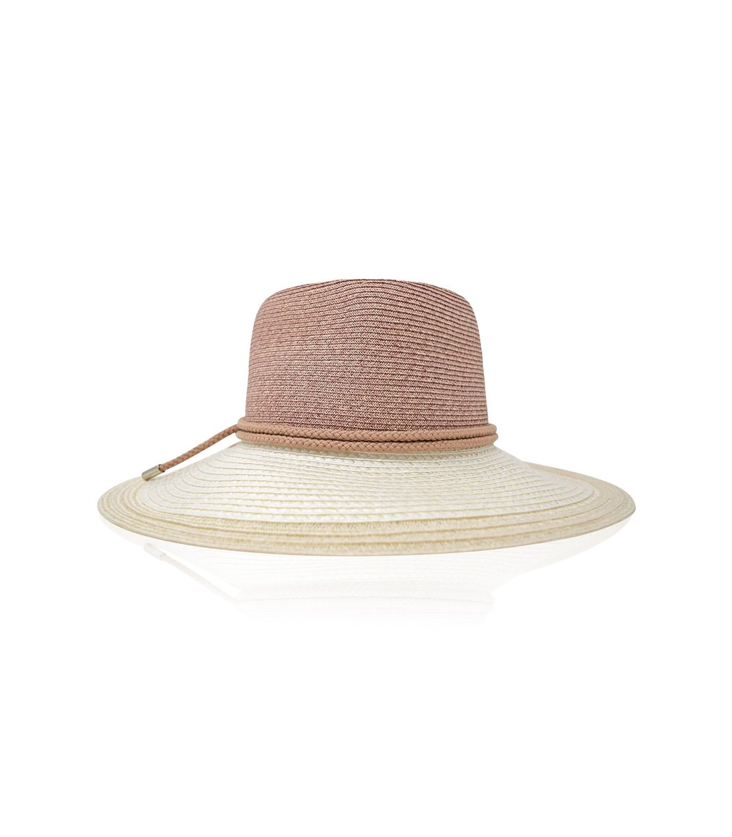 Gigi Burris Derek Hat in Blush/Ivory
