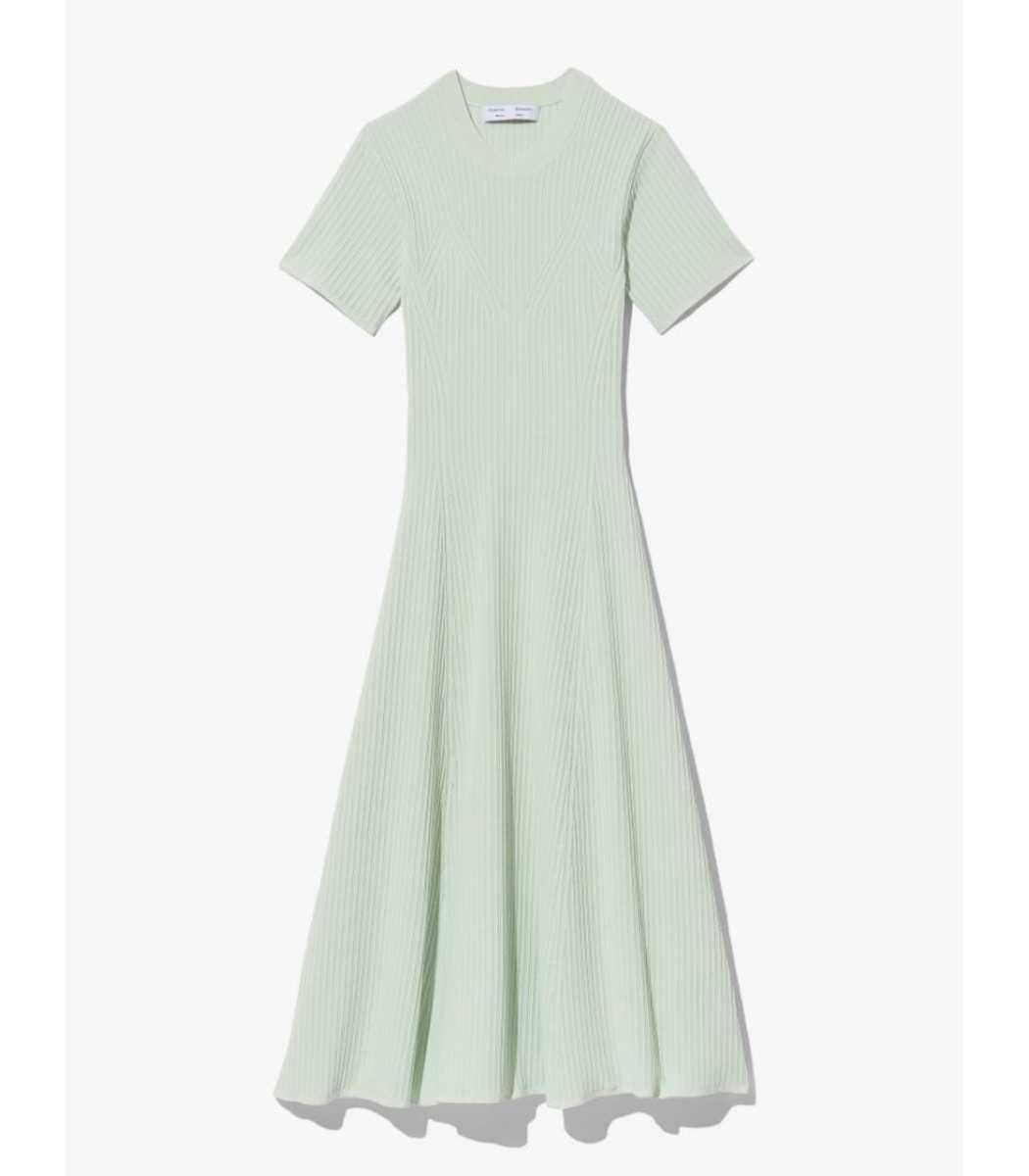 Proenza Schouler White Label Rib Detail Cut Out Dress