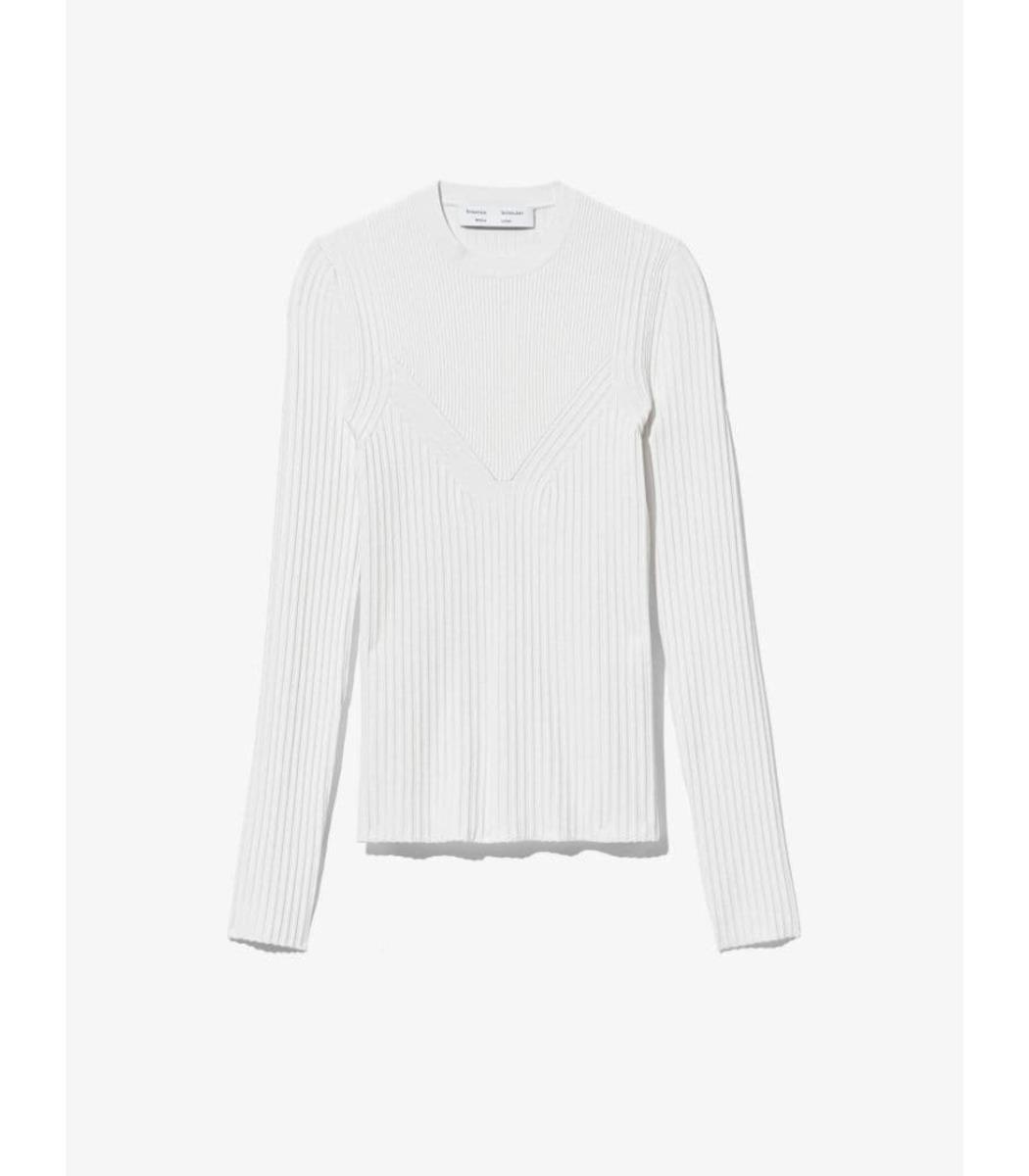 Proenza Schouler White Label Rib Detail Knit Top