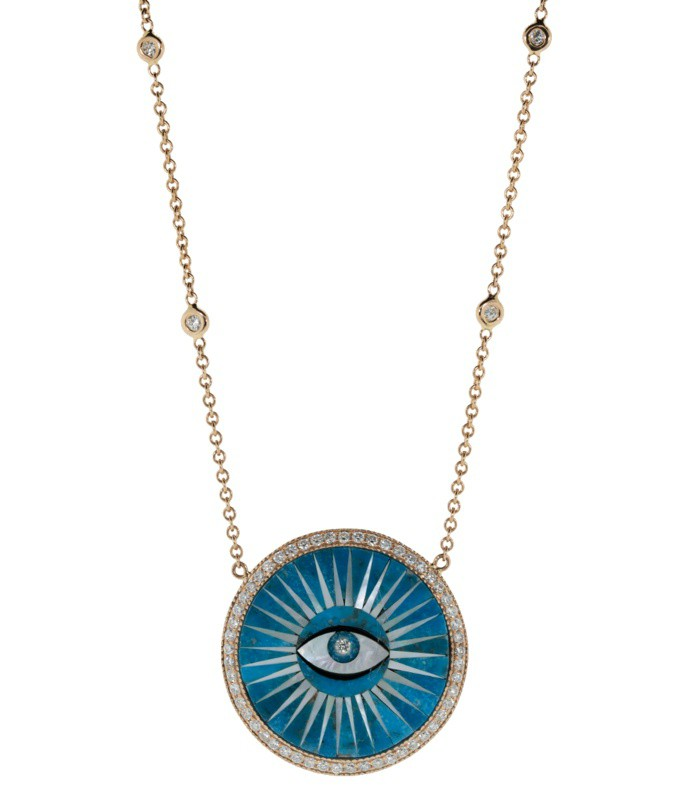 opal and diamond eye necklace
