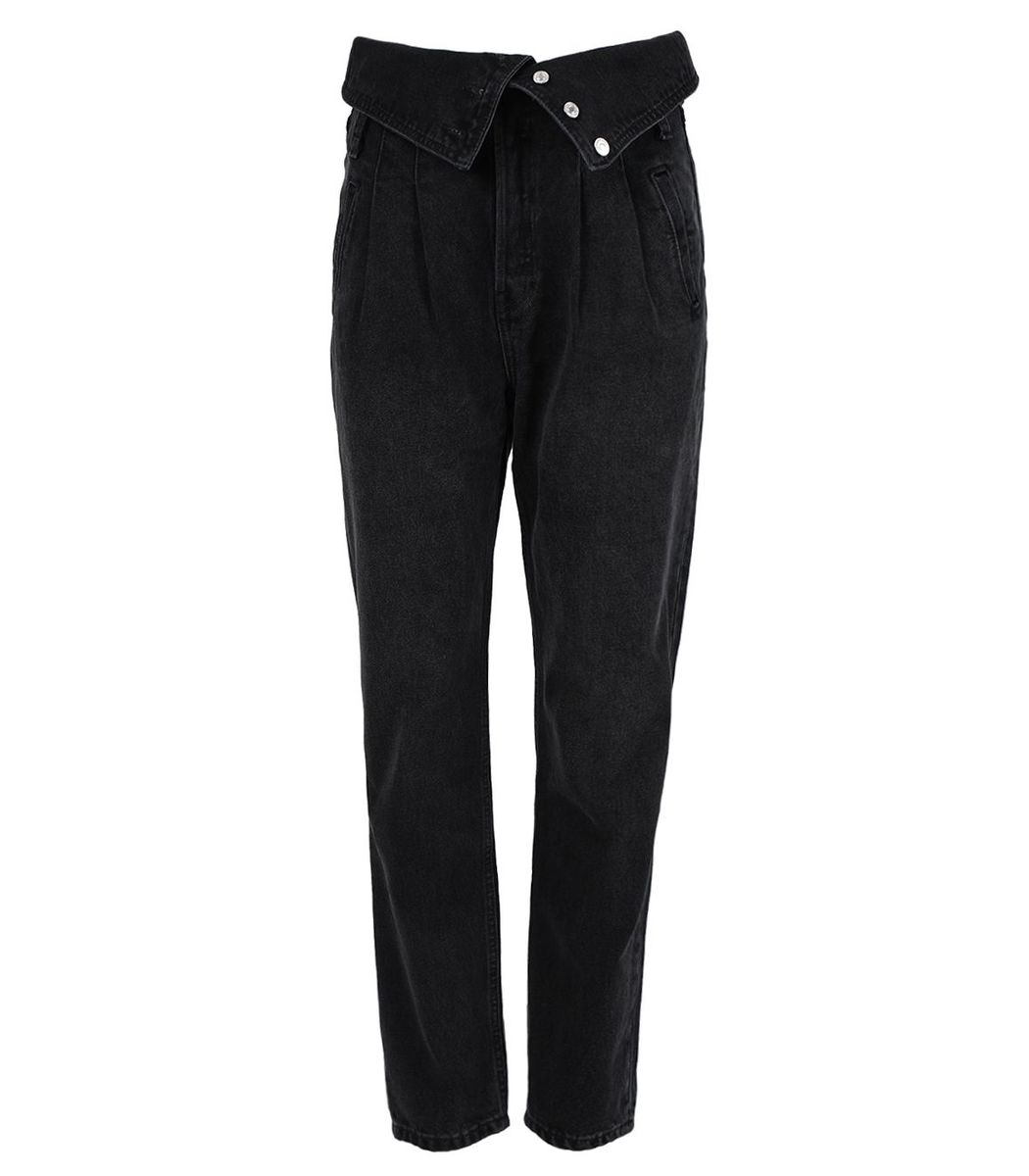Re/done Denims 80s Fold Over Jean, Vintage Noir