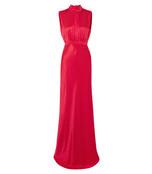 fleur silk-jacquard gown