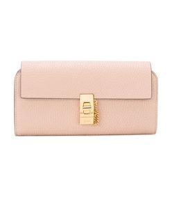 pink drew long flap wallet bag