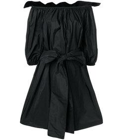 black off the shoulder bow dress