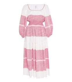 peasant sleeve midi dress