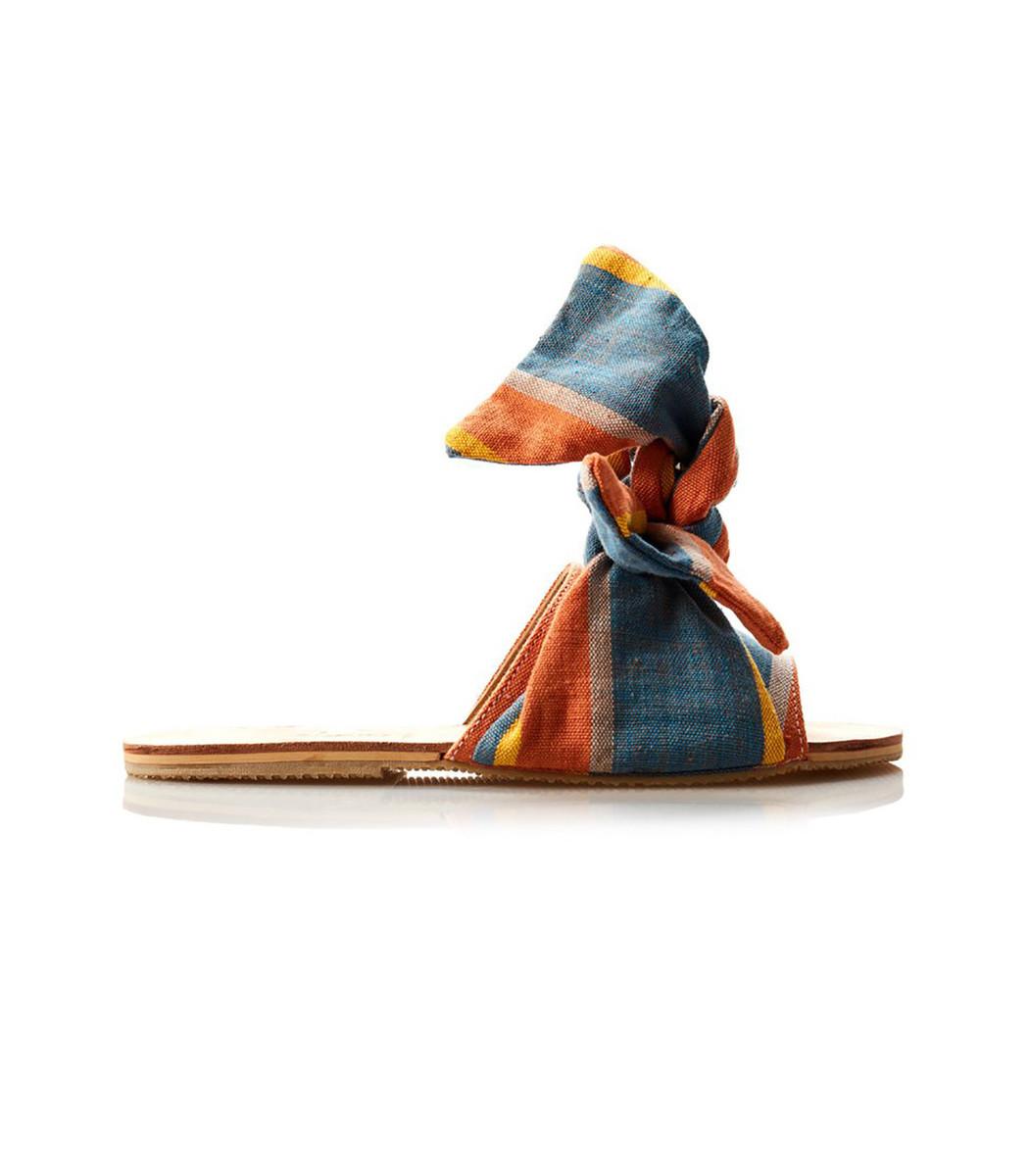 Brother Vellies Burkina Papaye Stripe Sandal