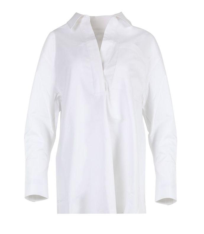 white popover shirt