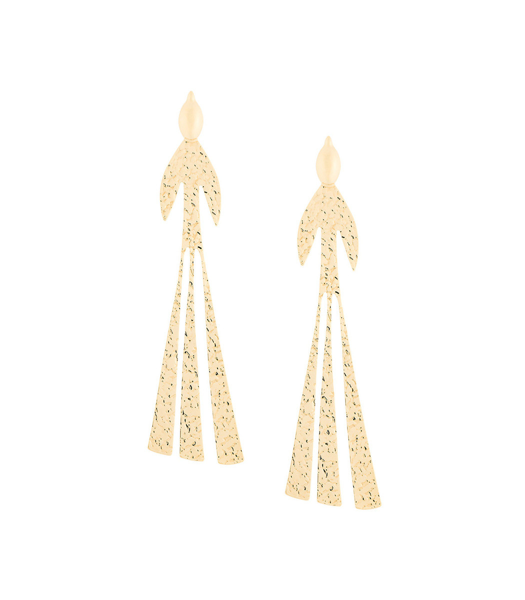 J.W.Anderson Hammered Bird gold-plated earrings 0SvlHQR