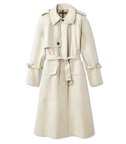 bonded oversized trench coat