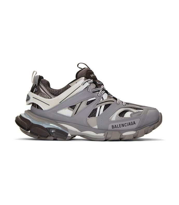 grey track sneakers