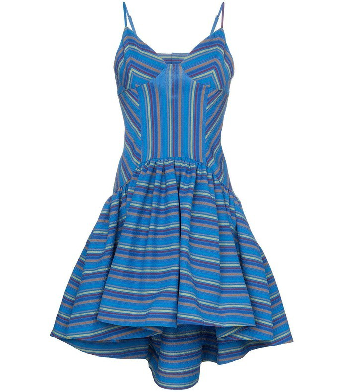 072497ac6f Rosie Assoulin. Flared Stripe Print Dress