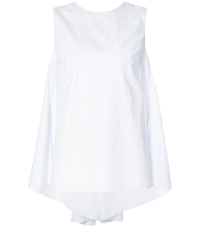 white striped cotton shell top