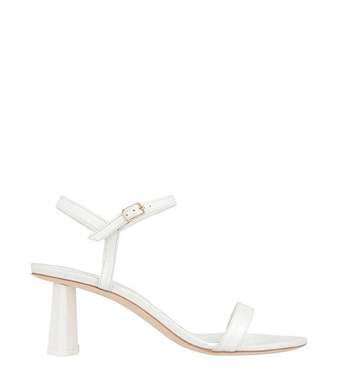 magnolia white leather sandal