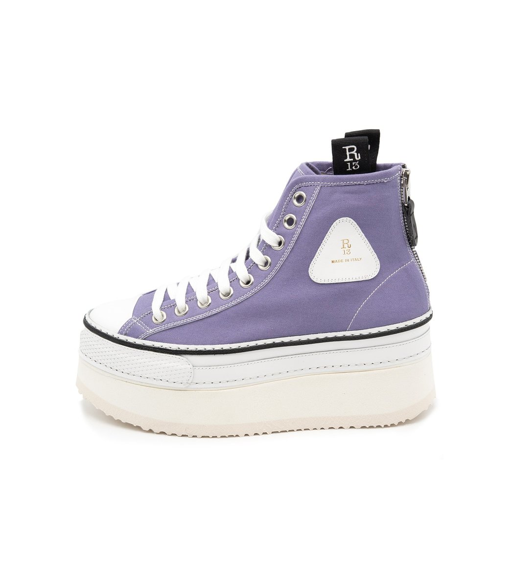 R13 Platform High Top Sneaker in Lilac