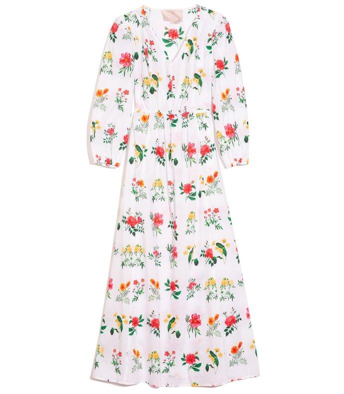 tabitha dress in rose/yellow