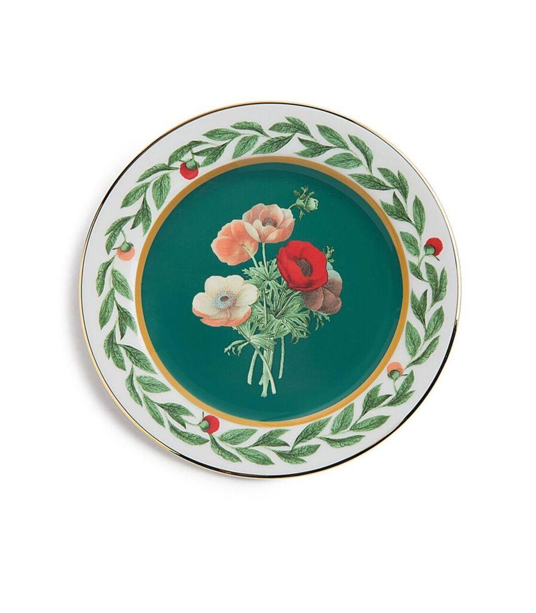 LA DOUBLEJ Green Housewives Posie Dessert Plates (Set of 2)