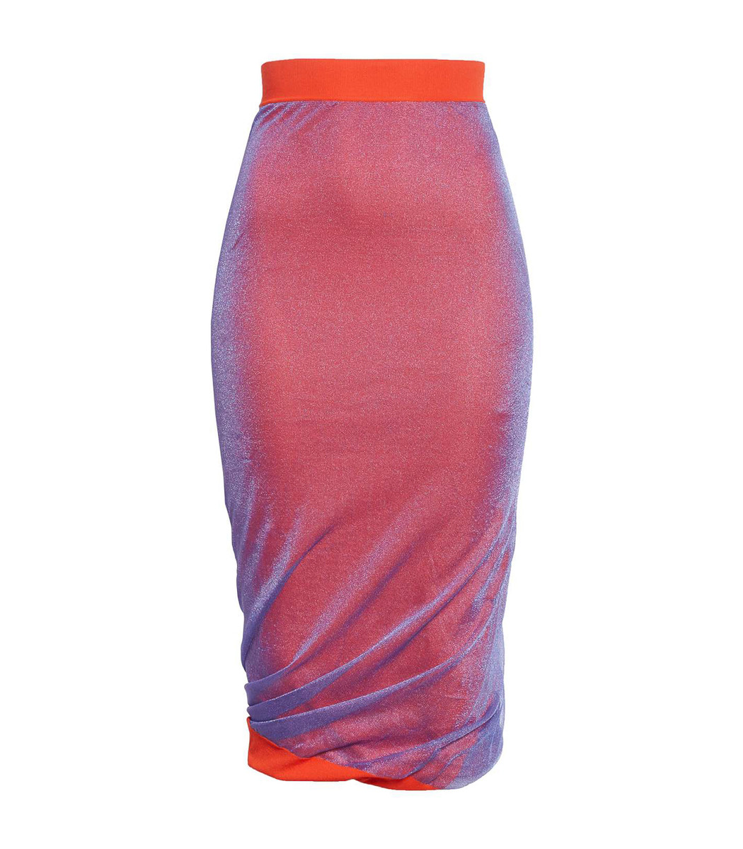 Atlein Pink Pencil Knitted Dress