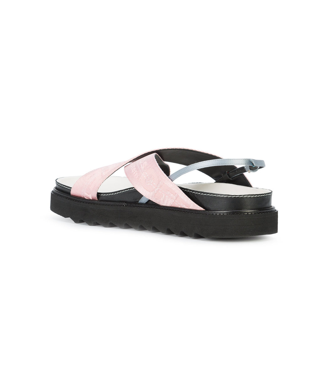 Sale Choice Low Price Online industrial strap sandals - Pink & Purple Off-white Sale Affordable Hurry Up K12NqeWmN