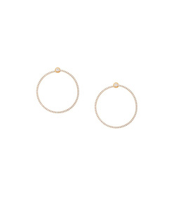 gold pave bardot hoops
