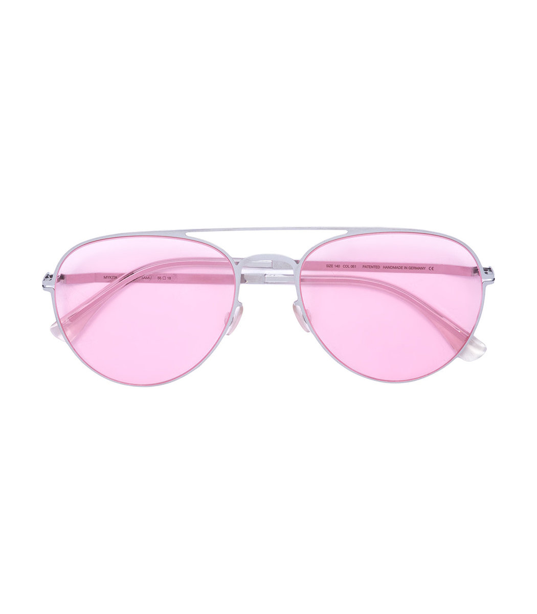 Mykita Pink Aviator Sunglasses