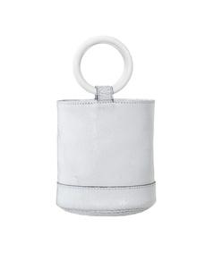bonsai 15cm bag in white crackle