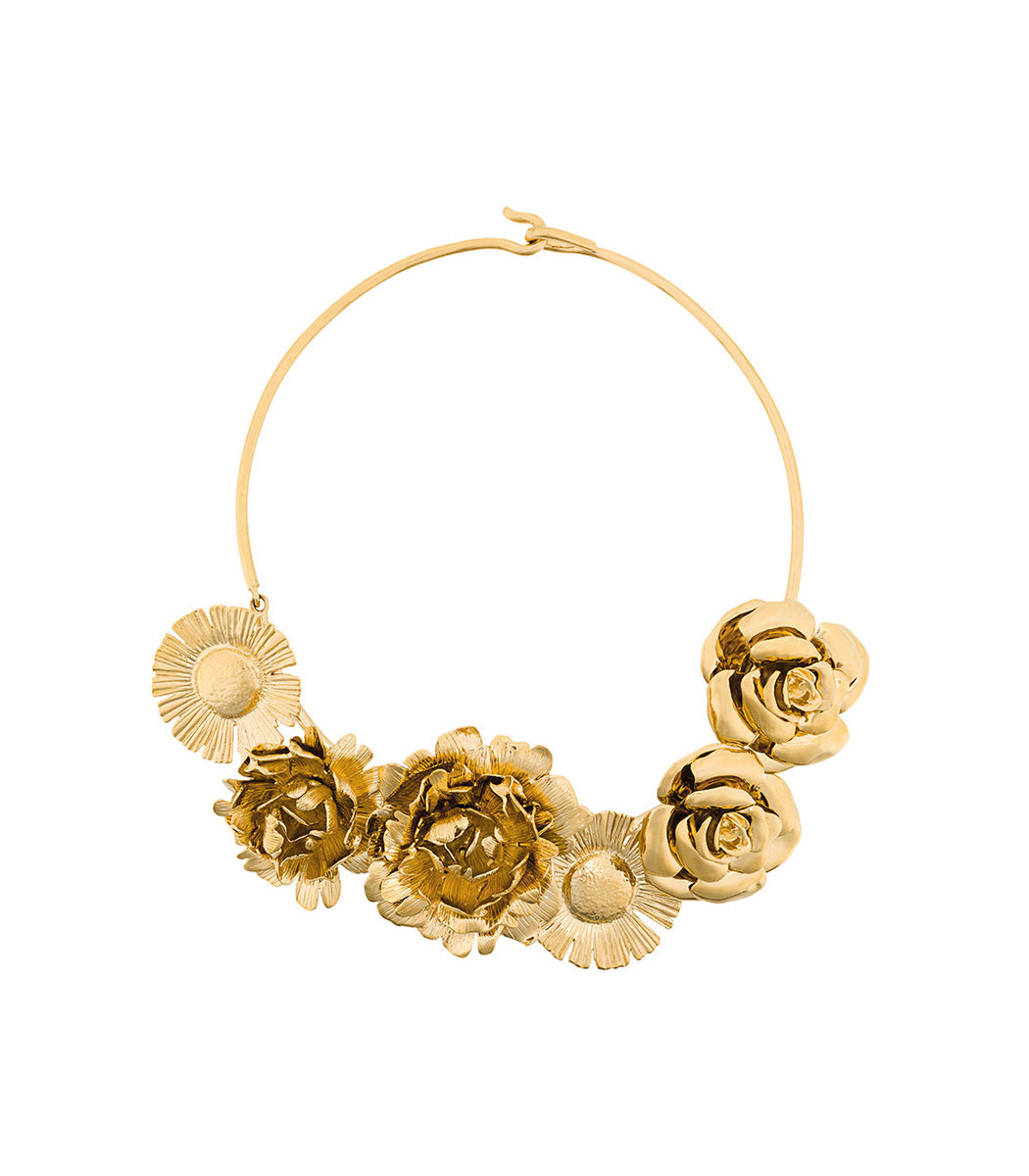 Aurelie Bidermann Gold Selena Statement Flower Necklace