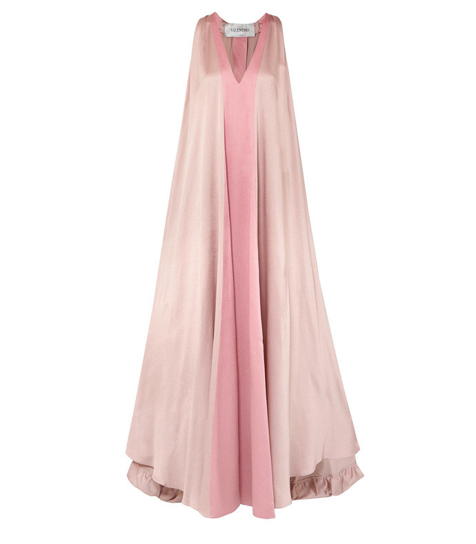 two-tone hammered silk-satin gown