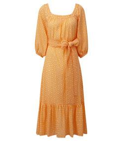 yellow laure daisy eyelet dress