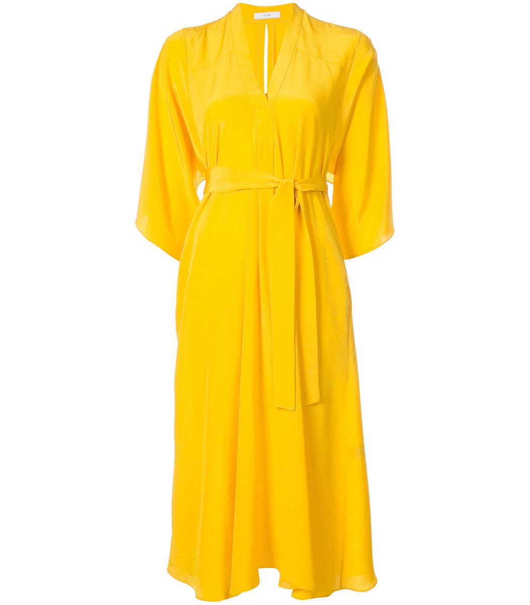 Tome Yellow Midi Dress