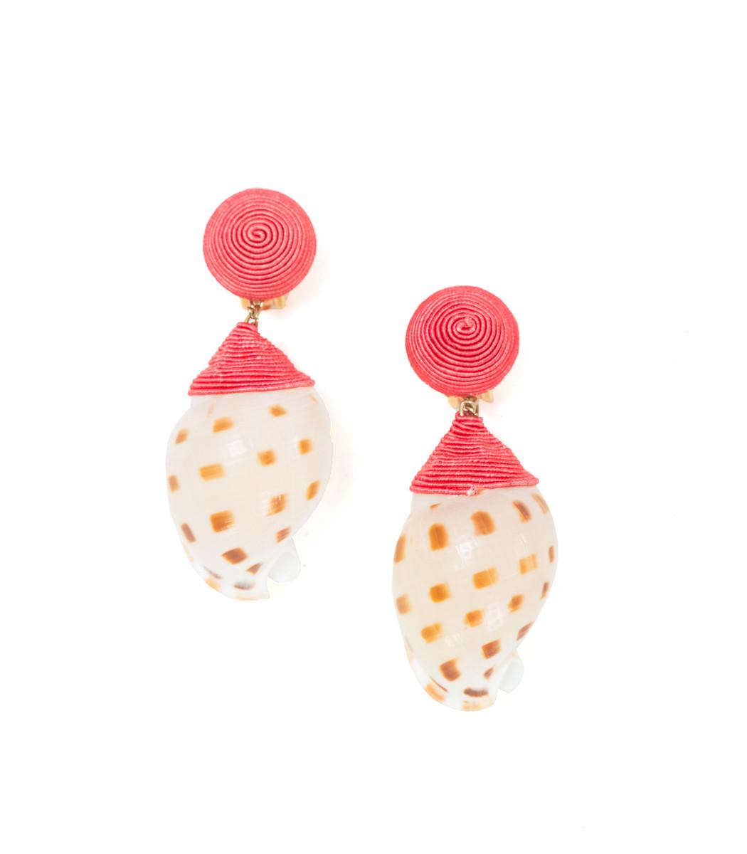 Rebecca De Ravenel Pink Ophelia Pair Clip Earrings